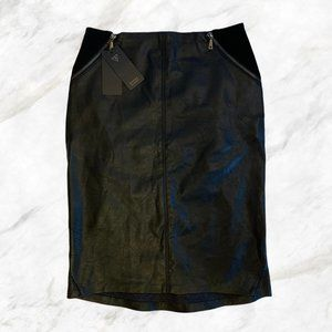 Guess | Faux-Leather Black Pencil Skirt